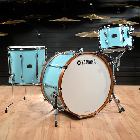 Yamaha Recording Custom 13/16/24 3pc Drum Kit Surf Green
