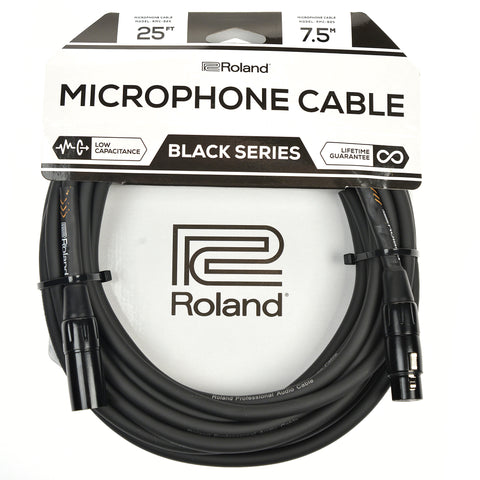 Roland Black Series 25ft XLR Microphone Cable