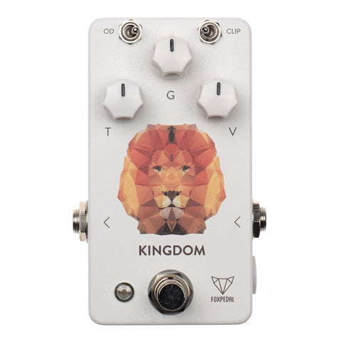 Foxpedal Kingdom Overdrive (White/Polygon Lion)