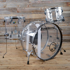 Ludwig Vistalite 14/16/26 3pc Drum Kit Clear 2015 USED