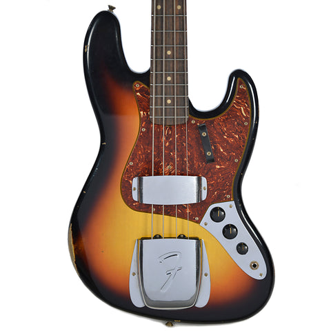 Fender Custom Shop 1962 Jazz Bass Relic RW Faded 3-Tone Sunburst (Serial #R89789)