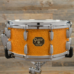 Gretsch 6.5x14 USA Custom Snare Drum 00s Gold Sparkle USED