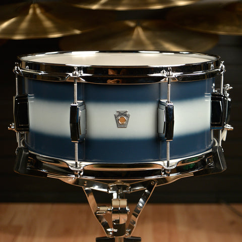 Ludwig 6.5x14 Club Date Vintage Snare Drum Blue/Silver Duco