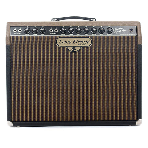 Louis Electric Vibrotone Reverb 35W 2x10 Combo Two-Tone w/Jupiter 10LC Speaker