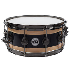 "DW Reverse Edge 6x14"" Snare Black Core Maple w/Black Nickel Hardware"