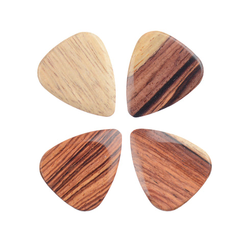 Timber Tones Burmese Rosewood Guitar Picks 4Pack