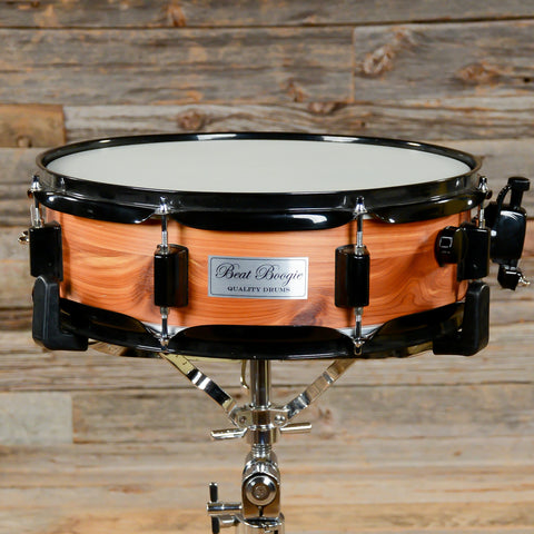 Beat Boogie 4x14 Cedar Over Steel Snare Drum w/Black Hdwr and Interior USED