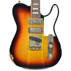 B3 Phoenix 3-Tone Sunburst Medium Distress w/Lollar Mini/Mini/T Pickups