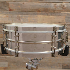 Premier 5x14 Popular Model Nickel Over Brass Snare Drum Early 1900s USED