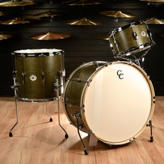 C&C Signature CDE Player Date Maple/Oak 13/16/24 3pc Big Band Drum Kit Olive