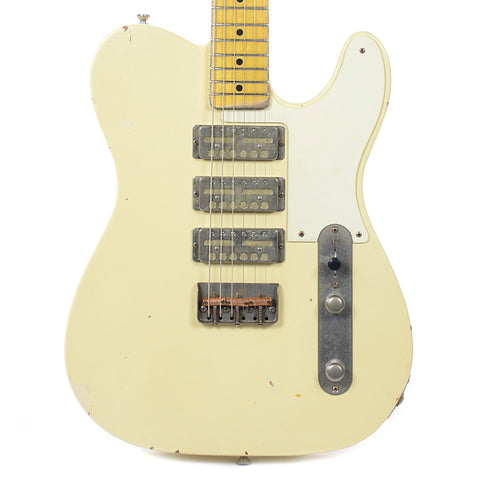Nash GF-3 Vintage White Light Relic w/1-Ply White Pickguard & Lollar Gold Foils (Serial #2939)