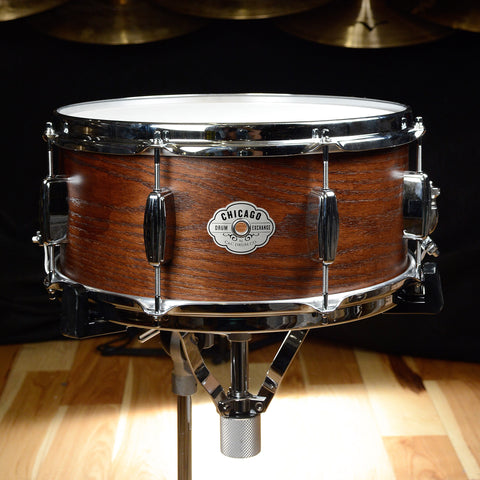 C&C 6.5x14 Signature CDE Player Date Maple/Oak Snare Drum Walnut