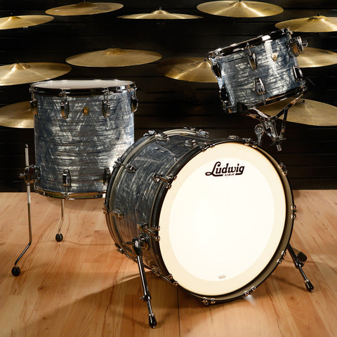 Ludwig 13/16/22 Classic Maple 3pc Kit Sky Blue Pearl
