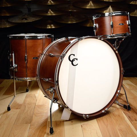C&C Player Date 2 3pc Big Band Drum Kit 13/16/24 Brown Mahogany