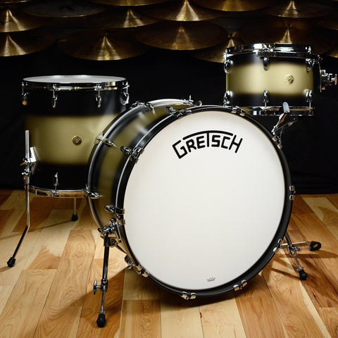 Gretsch USA Custom Broadkaster 13/16/24/6.5x14 4pc Kit Black/Gold Duco