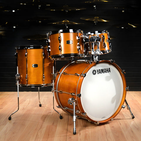 Yamaha Recording Custom 12/13/16/22 4pc Drum Kit Real Wood Floor Model