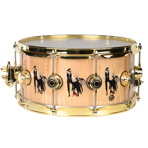 DW 6.5x14 Collectors Mick Fleetwood Maple Snare Drum w/ Rumours Theme w/Fold Hardware
