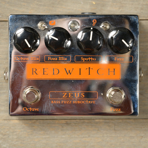 Red Witch Zeus Analog Bass Fuzz Suboctave Pedal USED