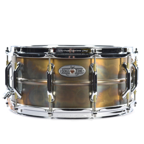 Pearl 14x6.5 Beaded Brass Sensitone Premium Snare Drum