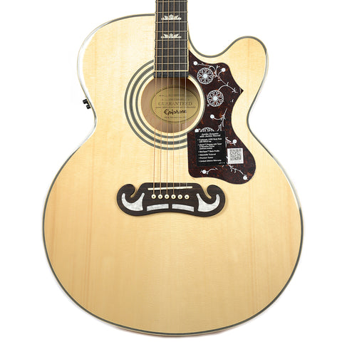 Epiphone EJ-200SCE Solid Top Acoustic-Electric Natural