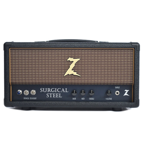 Dr. Z Surgical Steel Head Black w/Oxblood Grill
