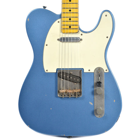 Nash T-63 Ice Blue Metallic Light Relic w/3-Ply Mint Pickguard & Lollar Pickups (Serial #319)