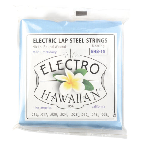 Asher Electro Hawaiian Lap Steel Strings Round Wound Medium/Heavy 8-String 15-68