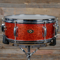 Slingerland 5x14 Deluxe Student Model Snare Drum Red Sparkle 1960s USED