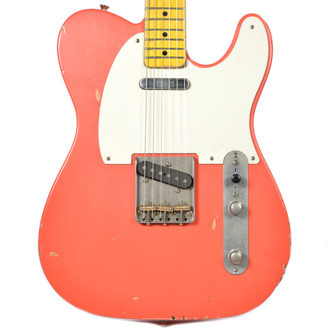 Nash T-57 Fiesta Red Light Relic w/1-Ply White Pickguard & Lollar Pickups (Serial #3669)