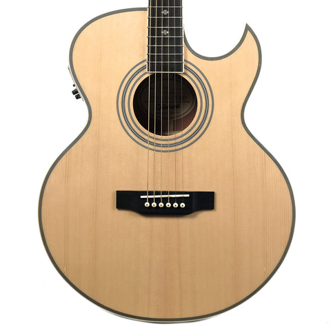Epiphone PR5-E Florentine Cutaway Acoustic-Electric Natural