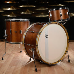 C&C Player Date 1 13/16/24 3pc Big Band Kit Brown Mahogany