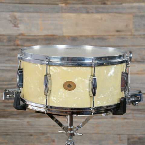 Ludwig & Ludwig 6.5x14 Super Snare Drum White Marine Pearl 1936 USED