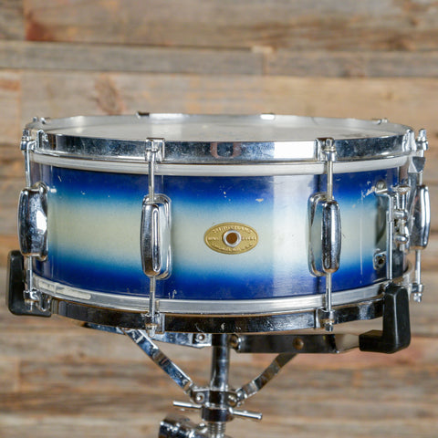 Slingerland 5.5x14 Student Model Radio King Snare Drum Blue & Silver Duco 1959 USED