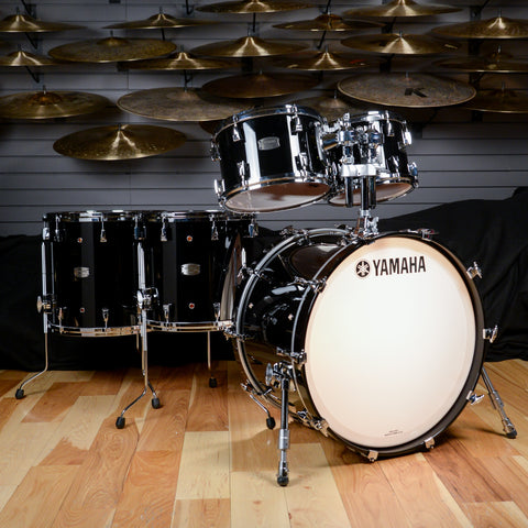 Yamaha Absolute Hybrid Maple 10/12/14/16/22 5pc Drum Kit Solid Black