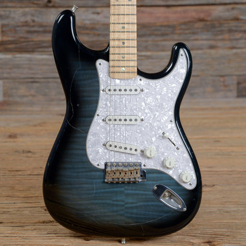 Fender Japan ST-54 Stratocaster Blue Foto Flame 1993