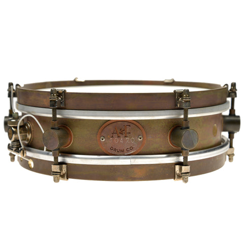 A&F Drum Co. 3x10 Rude Boy Raw Brass Snare Drum