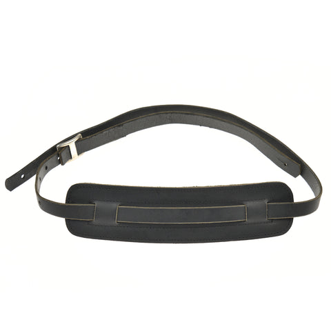 Tackle Leather Guitar Strap Black