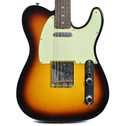Fender Custom Shop 1962 Telecaster Journeyman Relic RW Faded 3 Tone Sunburst