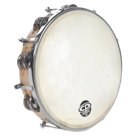 LP CP 10 Inch Tunable Wood Double Row Tambourine