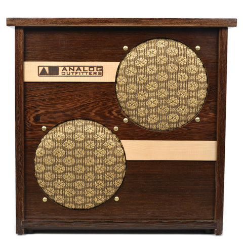 Analog Outfitters 2x10 40W 4/16ohm Speaker Cabinet Wenge Hardwood (Serial #48)