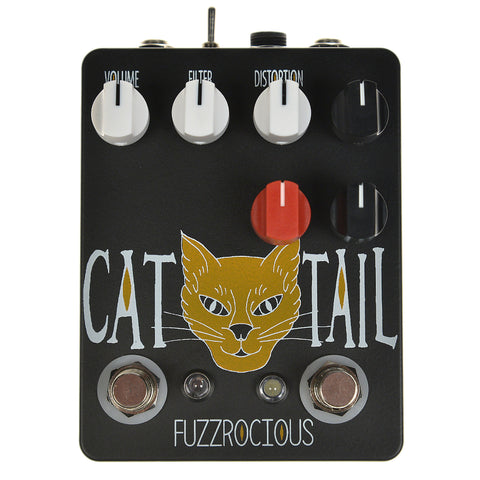 Fuzzrocious Cat Tail Distortion w/ Latching Feedback Mod CME Exclusive Black/Orange