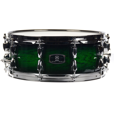 Yamaha 14x5.5 Live Custom Snare Drum Emerald Shadow Sunburst
