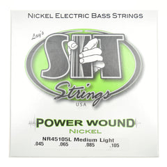 S.I.T. Power Wound Nickel Plated Bass Strings Medium-Light