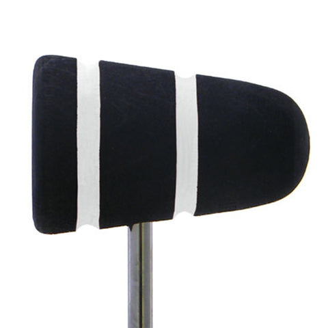 Low Boy Light Brown/Black White Stripes Lightweight Leather Daddy Bass Drum Beater