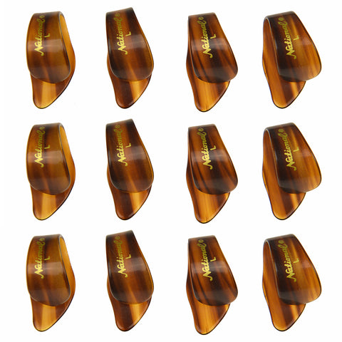 National Picks Thumb Pick Tortoise Shell Large 12 Pack