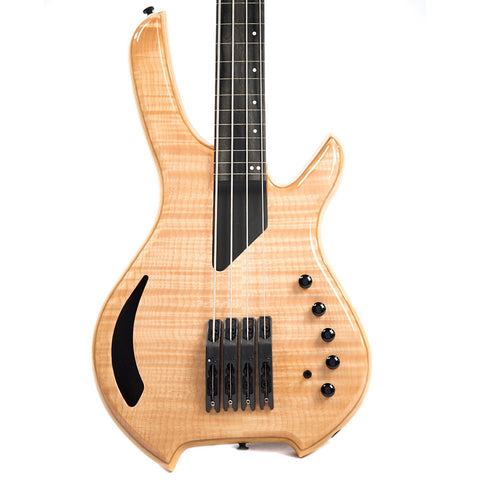 Lightwave Saber Bass VL-4 String Fretted Bass Transparent Natural