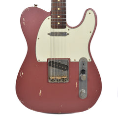 Nash T-63 Burgundy Mist Light Aging w/Matching Headstock, 3-Ply Mint Pickguard, & Lollar Pickups (Serial #3907)