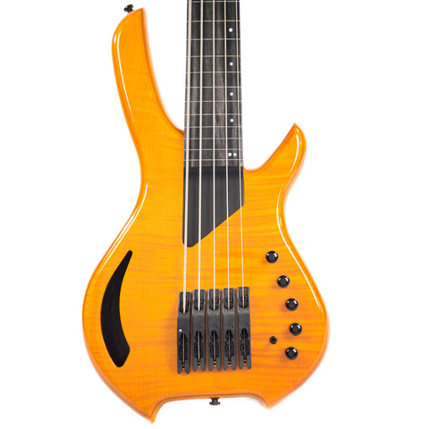 Willcox Lightwave Saber Bass VL-5 String Fretless Bass Transparent Amber