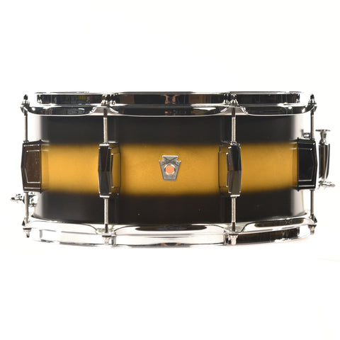 Ludwig 6.5x14 Club Date Vintage Snare Drum Black/Gold Duco