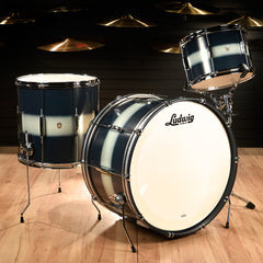 Ludwig Club Date Vintage 13/16/24 3pc Drum Kit Blue/Silver Duco